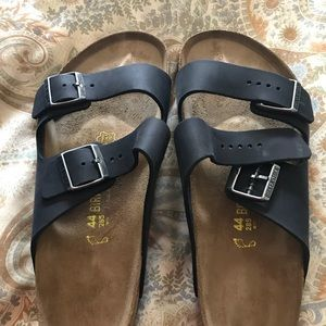 Sz 44 Birkenstock Arizona in Black Oiled Leather